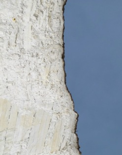 Erosion of cliff edge Sussex